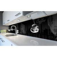 Наклейка виниловая кухонный фартук 60х300 см Вечерний Кофе