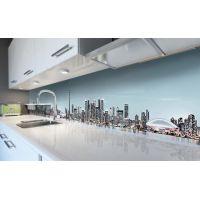 Наклейка виниловая кухонный фартук 60х300 см Мегаполис