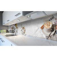 Наклейка вінілова кухонний фартух 60х300 см Ранок кава