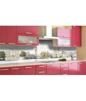Наклейка виниловая кухонный фартук 65х250 см Ретро Лондон