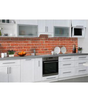 Наклейка Кухонный фартук 65х250 см Красный кирпич 01 красный