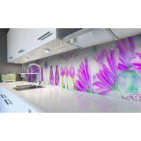 Наклейка вінілова кухонний фартух 60х250 см Вази та тюльпани