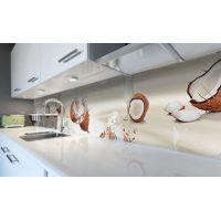 Наклейка вінілова кухонний фартух 60х300 см Кокосове молочко