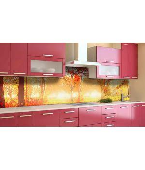 Наклейка виниловая кухонный фартук 60х250 см Солнечный Лес