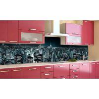 Наклейка виниловая кухонный фартук 60х250 см Синева ночного города