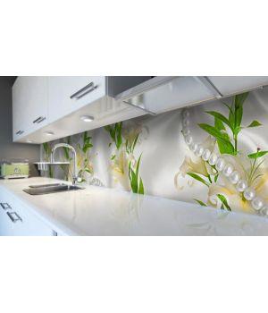 Наклейка вінілова кухонний фартух 65х250 см Лілії і Перли