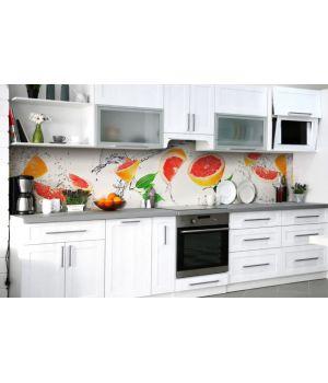 Наклейка вінілова кухонний фартух 65х250 см Грейпфрути