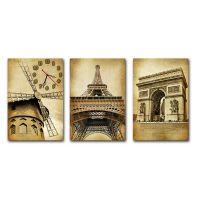 Модульные настенные часы Париж