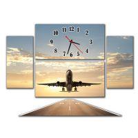 Модульные настенные часы Взлетающий Самолет
