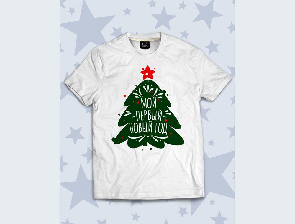 Обзор детской 3D футболки Первый Новый год, елка