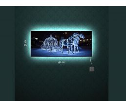 Обзор товара - Картина со светодиодами Сказочная карета