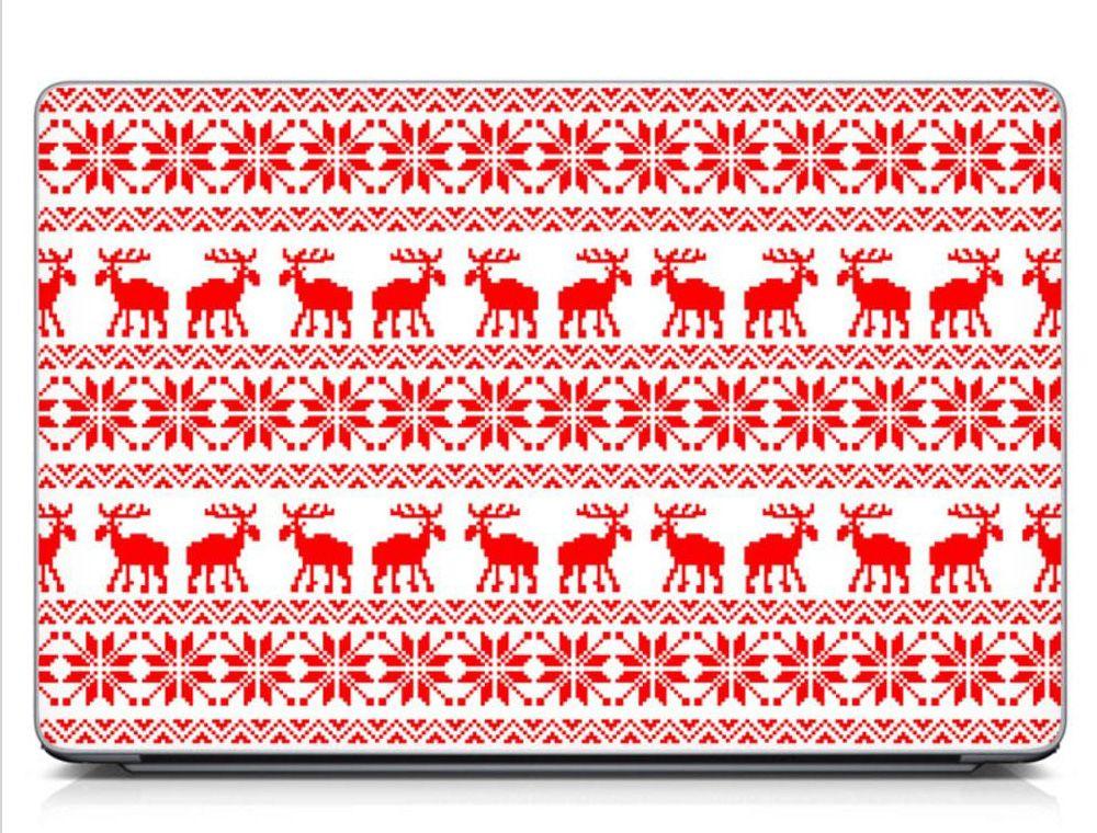 Новогодние наклейки на корпус ноутбука Deers