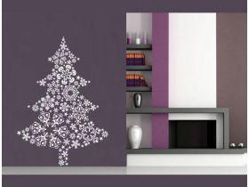 Обзор наклейки в детскую комнату Новогодняя Елка 3