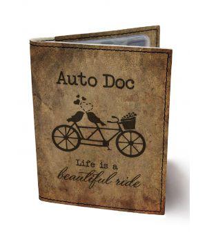 Обложка для автодокументов DevayS Maker DM 0202 Тандем коричневая (02-0202-445)