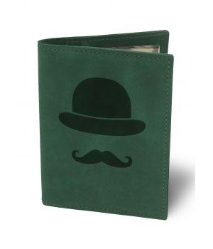 Обкладинка для автодокументів BermuD Джентльмен М01 зелена (B 02-18Z-01-7)
