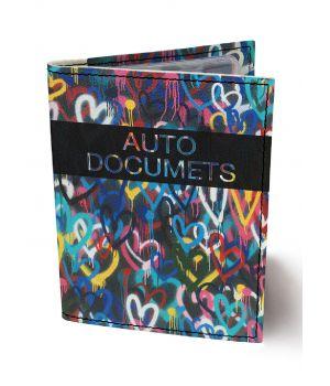 Обложка для автодокументов DevayS Maker DM 0202 Разноцветные Сердца разноцветная (02-0202-465)