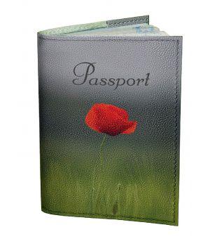 Обложка для паспорта DevayS Maker DM 0202 Алый мак зеленая (01-0202-463)