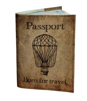 Обложка для паспорта DevayS Maker DM 0202 Воздущный шар коричневая (01-0202-444)