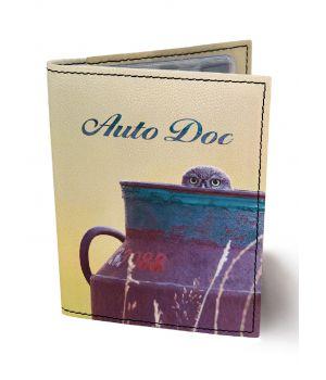 Обложка для автодокументов DevayS Maker DM 0202 Сова в кувшине разноцветная (02-0202-455)