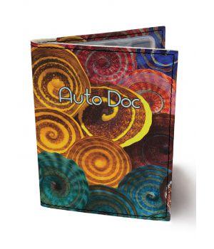 Обложка для автодокументов DevayS Maker DM 0202 Спирали разноцветная (02-0202-457)