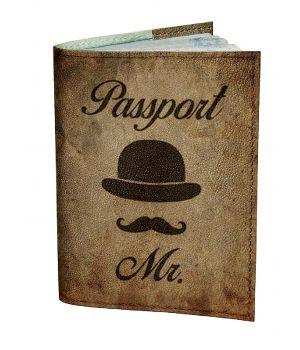 Обложка для паспорта DevayS Maker DM 0202 Джентельмен коричневая (01-0202-447)