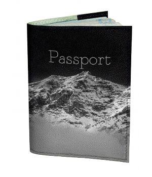 Обложка для паспорта DevayS Maker DM 0202 Горная даль черная (01-0202-468)