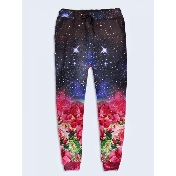 Модные женские брюки Space flowers