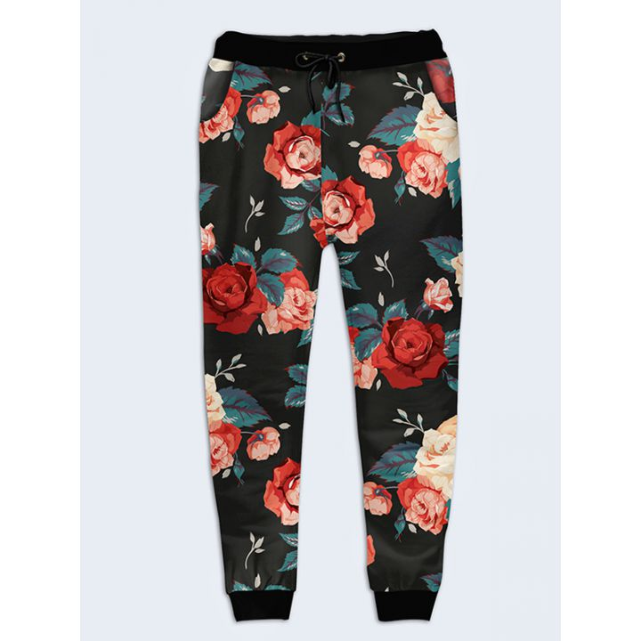 Модные женские брюки Розы винтаж