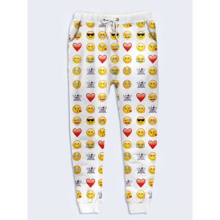 Жіночі штани Смайли білі