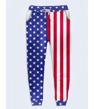 Модные женские брюки Флаг США