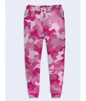 Модные женские брюки Розовый камуфляж