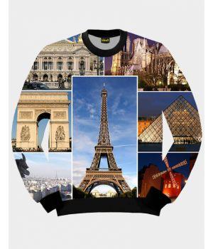 Свитшот IdeaX Париж, коллаж