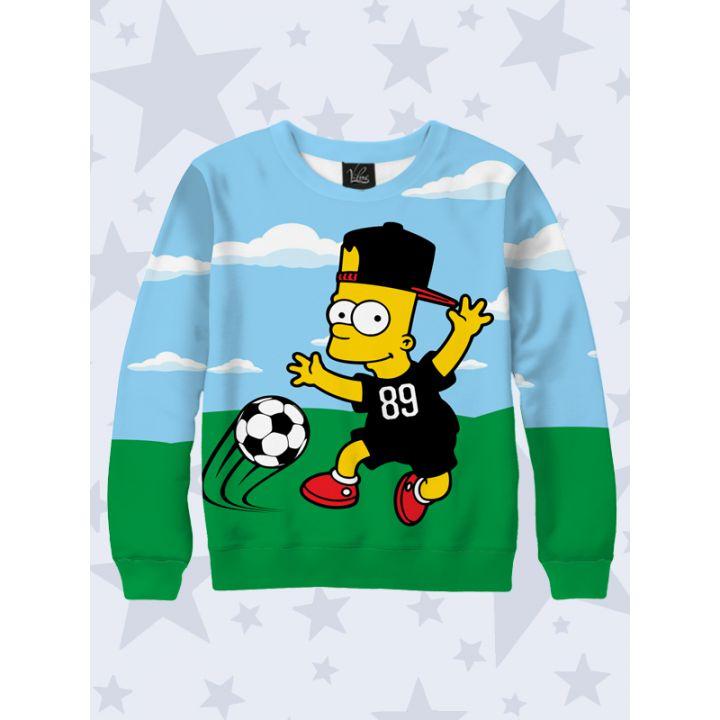 3D Детский свитшот Footballer Bart