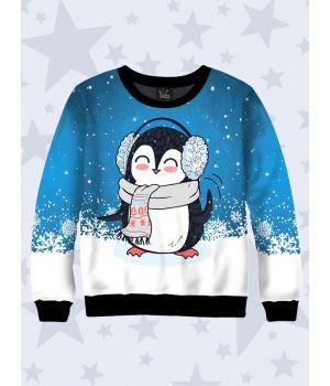 Детский свитшот Пингвин в шарфе