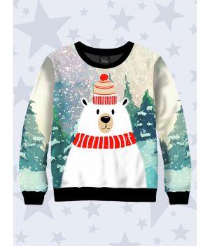 Дитячий світшот Білий ведмедик