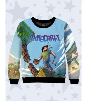 Детский свитшот Minecraft art