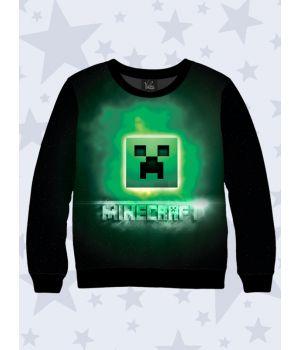 Детский свитшот Minecraft logo art
