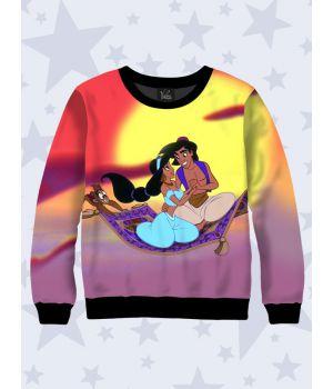 Детский свитшот Aladdin and Jasmine