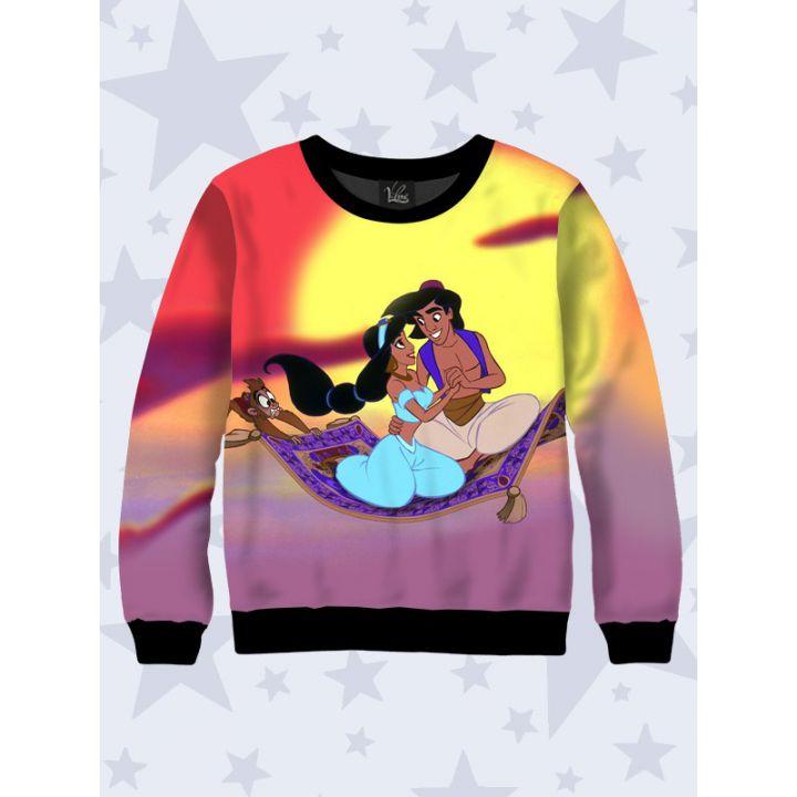 3D Детский свитшот Aladdin and Jasmine