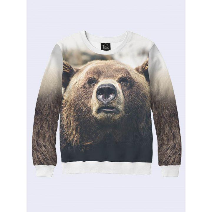 3D Мужской свитшот Brown bear