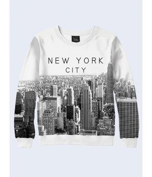 Жіночий світшот Нью-Йорк чорно-білий