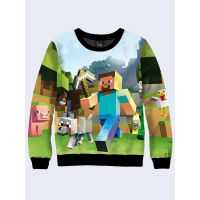 Мужской cвитшот Minecraft heroes