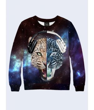 Мужской свитшот Leopard in cosmos