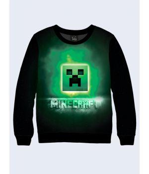Мужской свитшот Minecraft logo