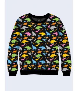 Свитшот Цветные динозавры