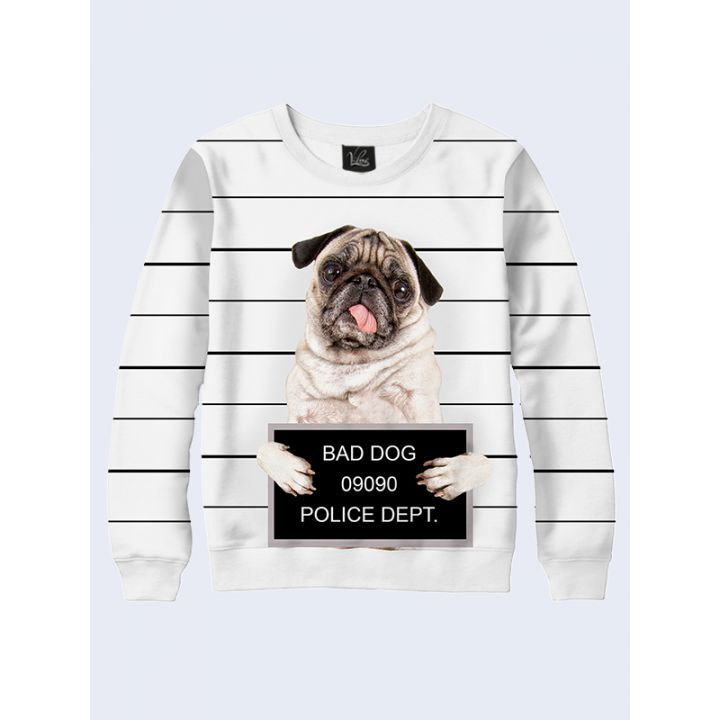 3D Мужской свитшот Bad dog