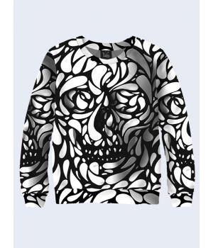Мужской свитшот Black and white skull