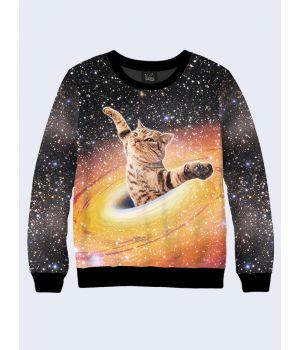 Мужской свитшот Cat in black hole