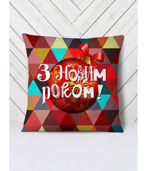 Подушка Новорічні кулі