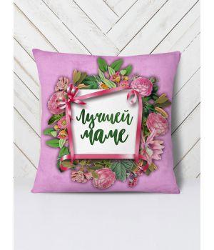 Подушка Лучшей маме цветы